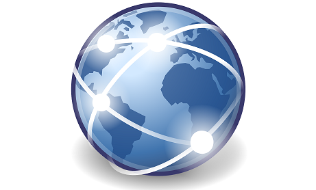 A globe with lines connecting various locations. For support REW Computing offers services in eDiscovery, project management and IBM Lotus Notes support for Newmarket, Toronto, the GTA, and Ontario, Canada.