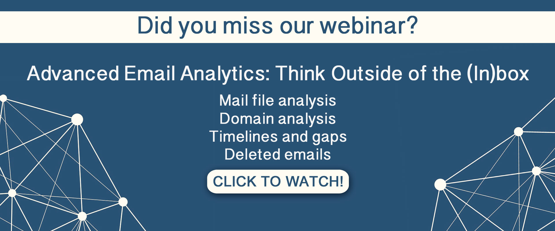 Advanced Email Analytics: Think Outside of the (In)box